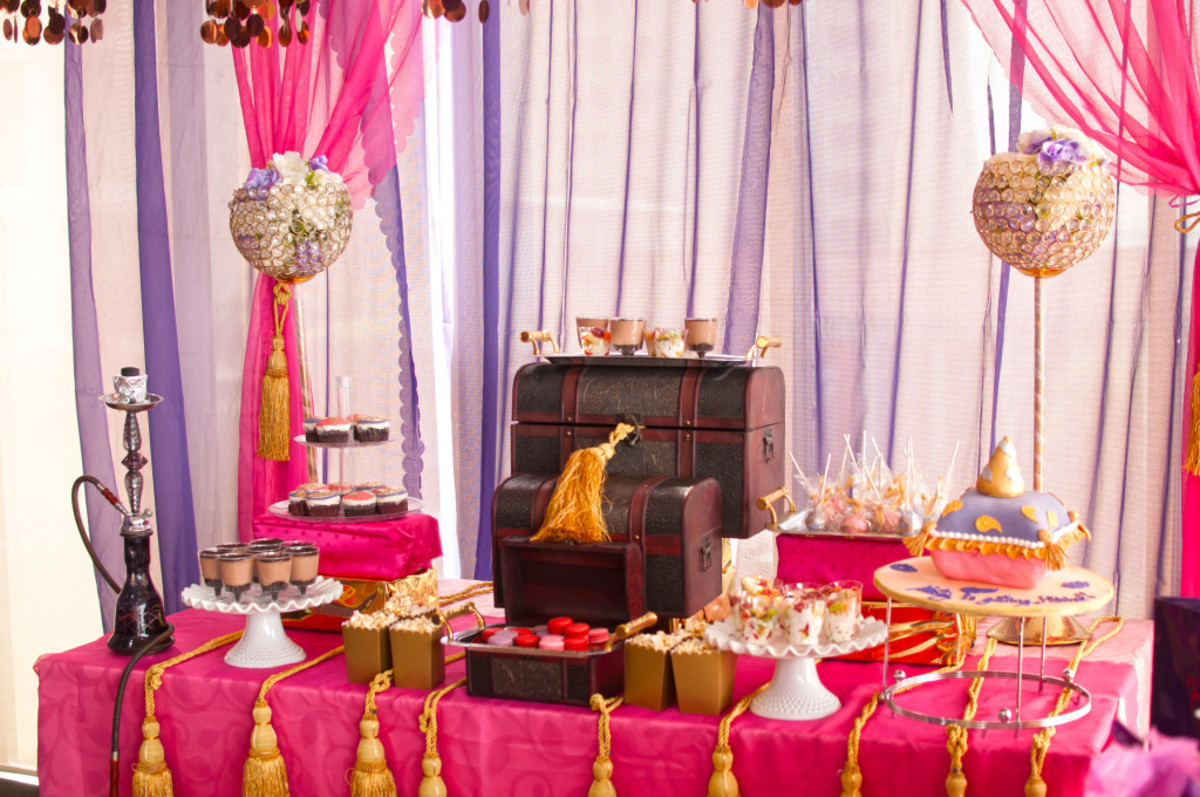 4d0bc3416aee The planners was able to successfully pull off these Moroccan themed bridal  shower.